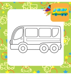 Bus toy vector image