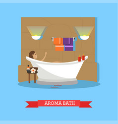 Spa procedures aroma bath concept vector