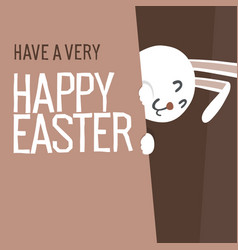 happy easter everyone easter bunny vector image