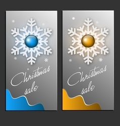 Trendy christmas sale card vector