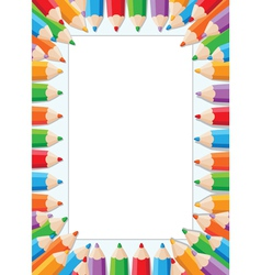 Pencils card vector