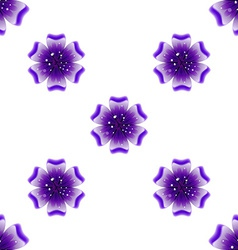 Beautiful violet flower seamless floral pattern vector