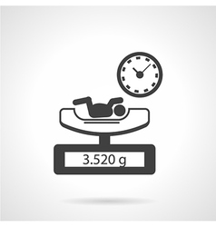 Black icon for newborn exam vector
