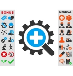 Find medical technology icon vector