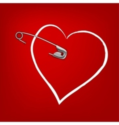 Pinned heart vector