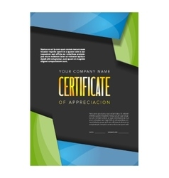 Color certificate design vector