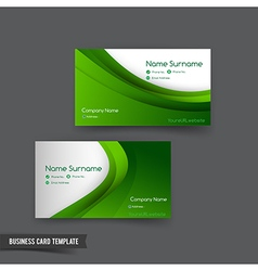 Business card template set 049 green curve element vector