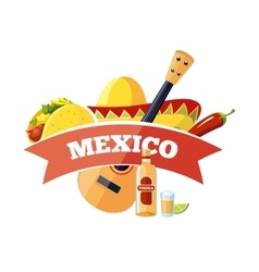 Mexican logo and badge design vector