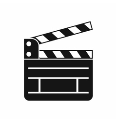 Clapperboard icon simple style vector