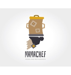 Abstract mama chef logo template for vector