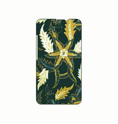 batik phonecase 15 vector image