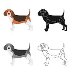 Beaglesingle icon in cartoon stylebeagle vector