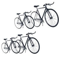 Bike print fashion trend men junior kids vector