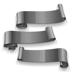 Black Glossy ribbons set vector image