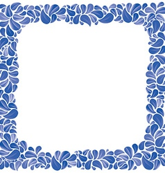 Blue natural decorative framing with leaves best vector image vector image