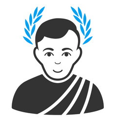 Caesar wreath flat icon vector