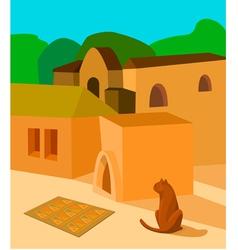 Cat in the sun vector