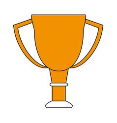 Color silhouette cartoon golden cup trophy vector