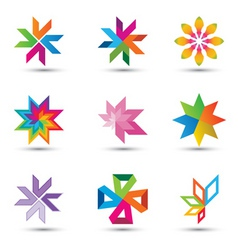 corporate design elements vector image