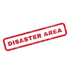 Disaster area text rubber stamp vector