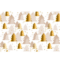 elegant gold and baige pattern happy new year vector image vector image