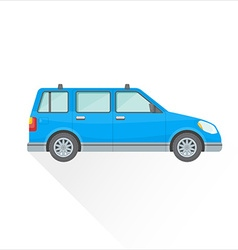 Flat blue wagon car body style icon vector