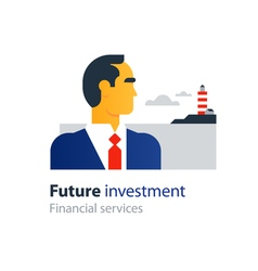 Future finances investment management business vector
