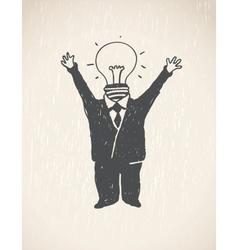 Idea Lamp Head Businessman vector image vector image