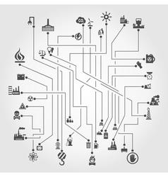 Industry the scheme vector