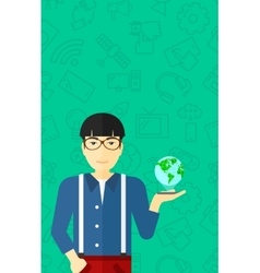 International technology communication vector image