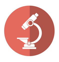 Laboratory microscope equipment icon shadow vector