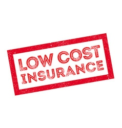 Low cost insurance rubber stamp vector