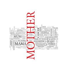 Mama word cloud concept vector