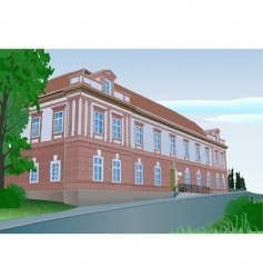 Manor house vector