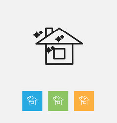 Of cleanup symbol on pure home vector