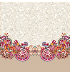 ornate card announcement vector image vector image