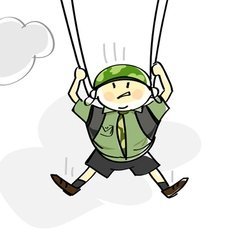 parachutist vector image vector image