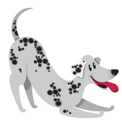 playing cartoon dalmatian dog with smile vector image