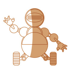 Robot toy funny vector
