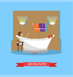 Spa procedures aroma bath concept vector
