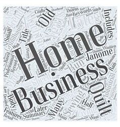 The latest home business trend is years old word vector