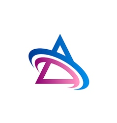 triangle color communication logo vector image vector image
