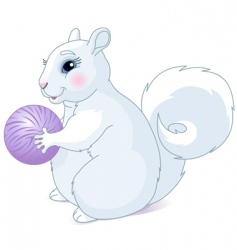 white squirrel vector image vector image