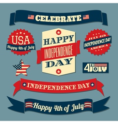 Independence day design elements vector