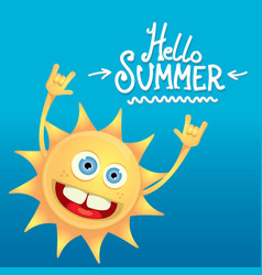 hello summer rock n roll poster summer party vector image