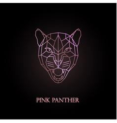 Pink panther logo design vector