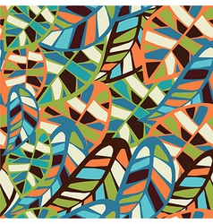 Abstract leaf pattern background vector