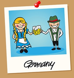 Germany travel polaroid people vector image