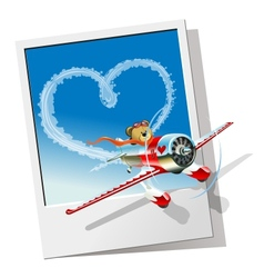Cartoon racing airplane vector