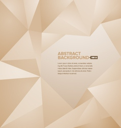 Polygonal background brown vector